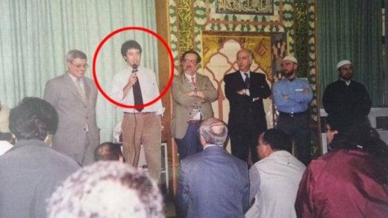Salvini in moschea a Milano