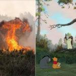 Scoppia un incendio nella foresta che ha ispirato i libri di Winnie the Pooh: le conseguenze