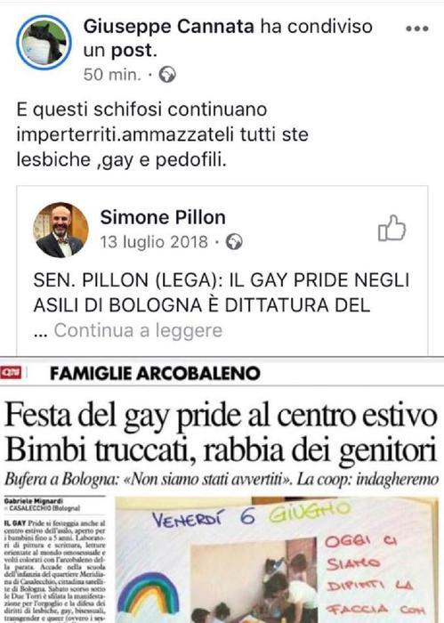 Cannata contro gay