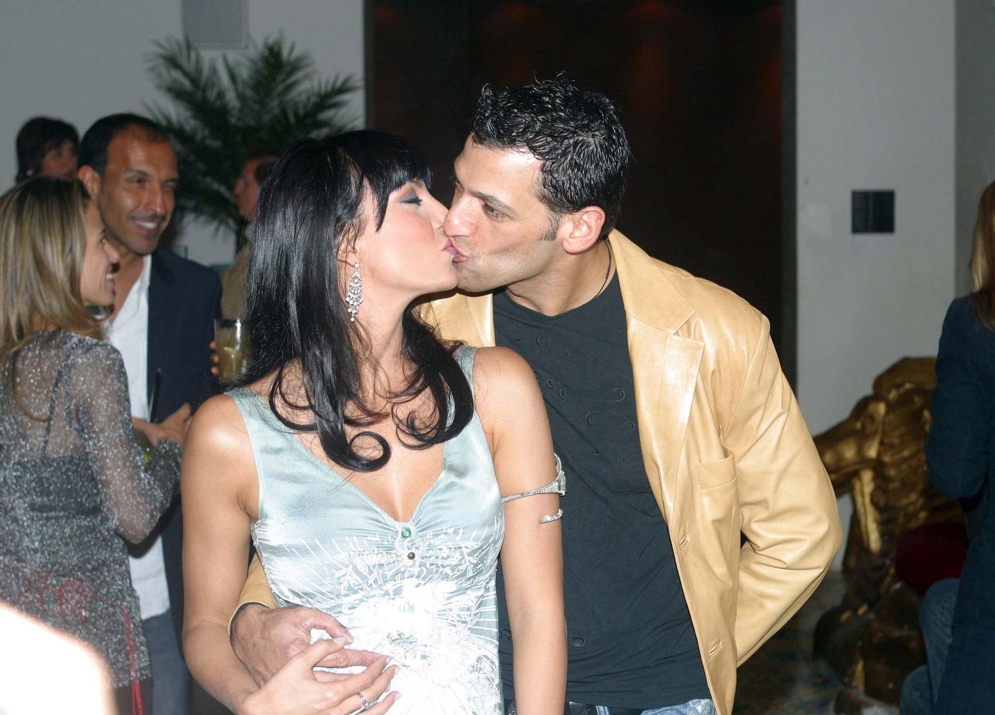 Miriana Trevisan e l'ex marito Pago nel 2005 (LaPresse)